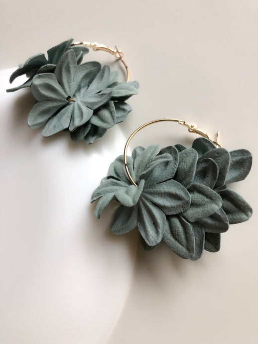 Nenufar Earrings Green
