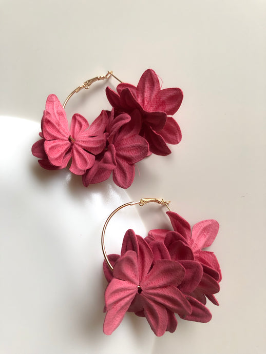 Nenufar Earrings Pink