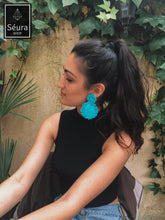 Load image into Gallery viewer, Light Turquoise Round-two piece Earring