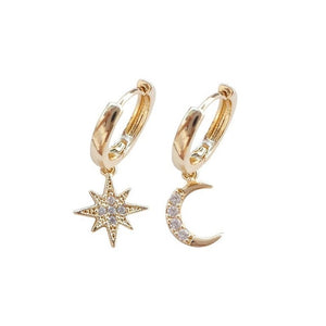 Moon Star Earrings