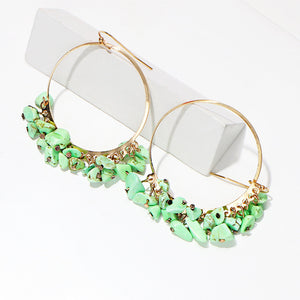 Nusa Earrings Green