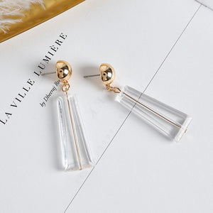 White Gold Geometric Earring