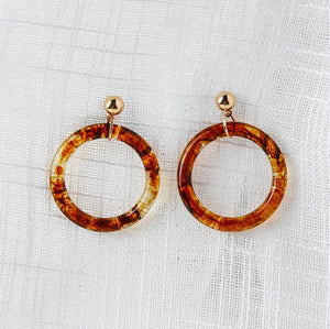 Leopard Patterned Round-thin Earring