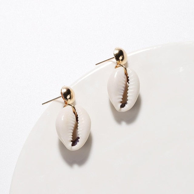 Small Gold and Shell Earring