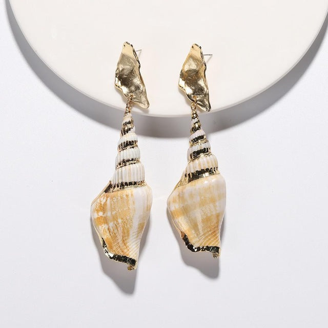 Two Piece -Seashell combined with Gold