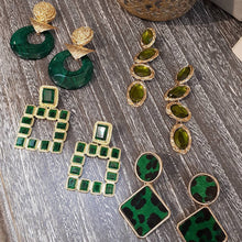 Load image into Gallery viewer, Isis Earring Green