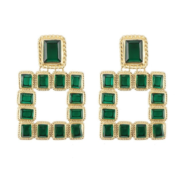 Isis Earring Green