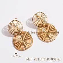 Load image into Gallery viewer, Double Golden Circumference Earring