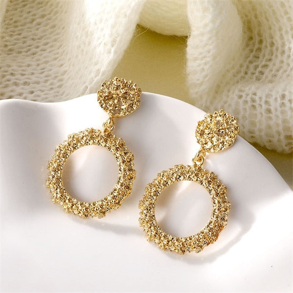 Atenea Gold Circle Earrings