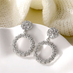Atenea Silver Circle Earrings