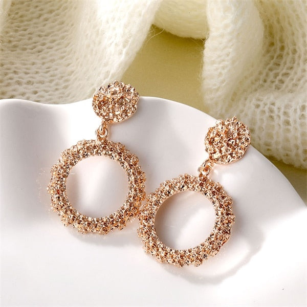 Atenea Rose Circle Earring