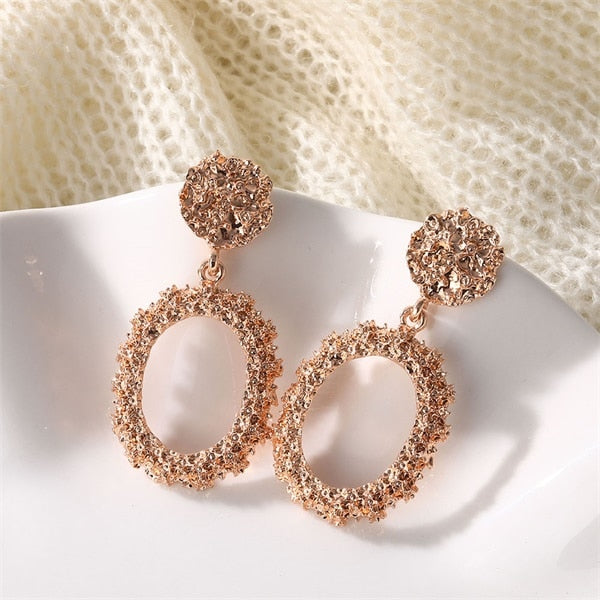 Atenea Rose Round Earrings