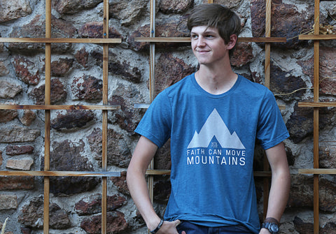 Faith can move Mountains- Mens Tee