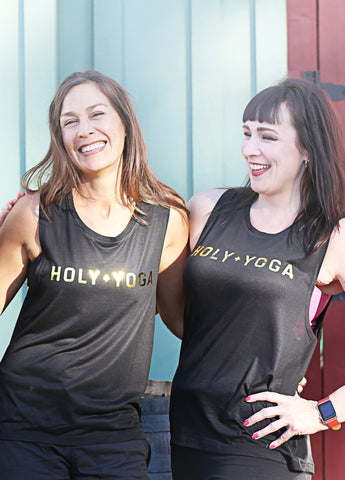 Holy + Yoga Womens Muscle Tank