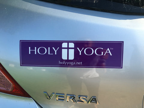 Holy Yoga Car Magnet