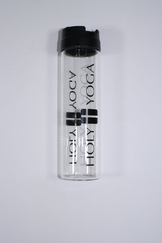 Holy Yoga Glass Water Bottle