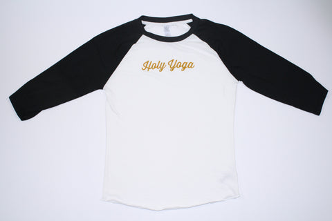 Holy Yoga Black & White Baseball Long-Sleeved