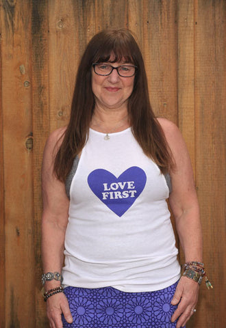 "Women's ""Love First"" tank"