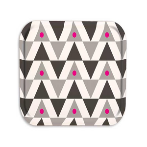 Pink Triangle Wooden Tray