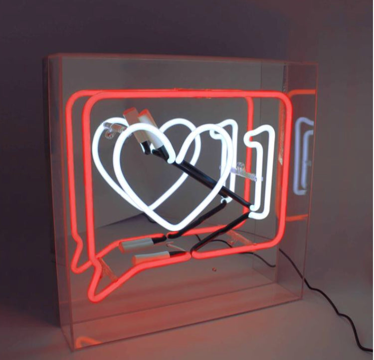 "Neon Acrylic Box, ""Like"""