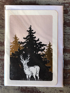 Stag and Trees