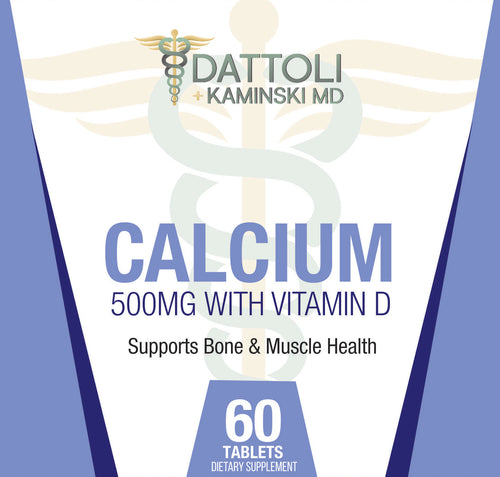 Calcium (500mg with Vitamin D) 60 Count