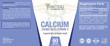 Load image into Gallery viewer, Calcium (500mg with Vitamin D) 60 Count