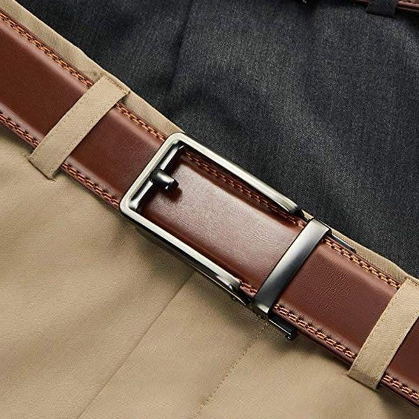 Upgraded Genuine Leather Ratchet Belt