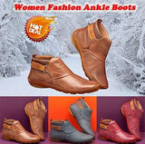 Women Comfy Daily Adjustable Leather Booties(40% OFF )