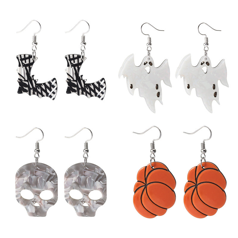Halloween earrings personality exaggerated ghostly earrings