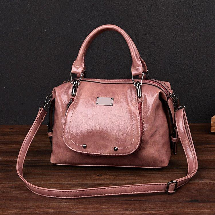 2020 New Fashion High Quality Oil Wax Leather Ladies Handbag
