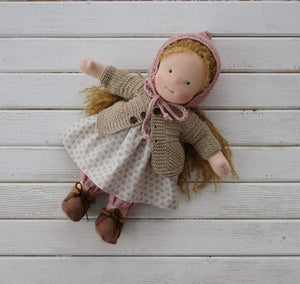 Waldorf doll with big set of clothes(PRE ORDER.NEXT SHIPPING DAY 15 DAYS)