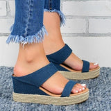 Sunny Afternoon High Wedge Sandals