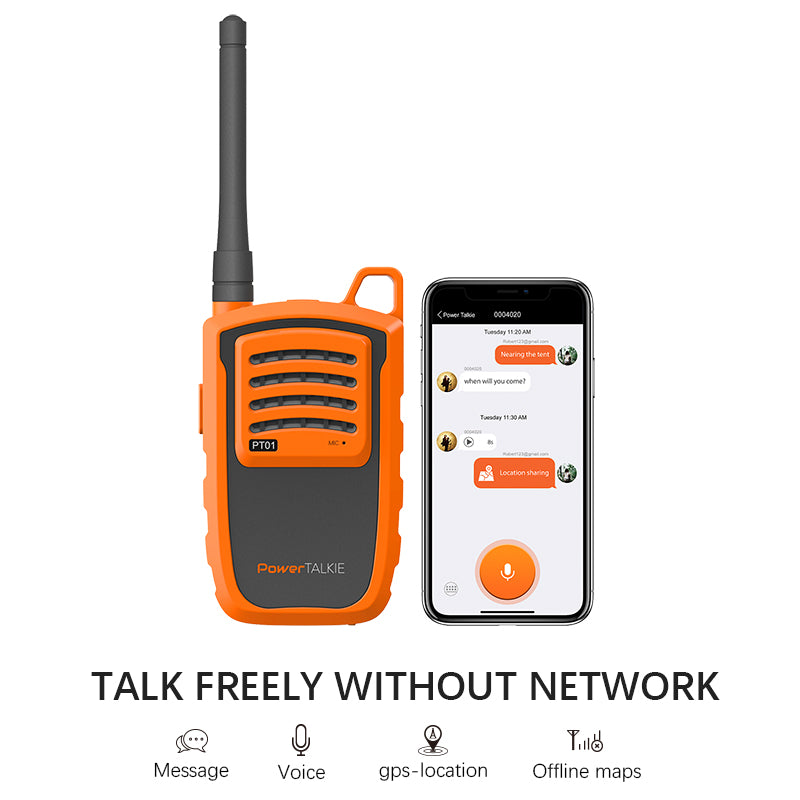 talk freely without network  Outdoor Off-grid Gps Walkie Talkie