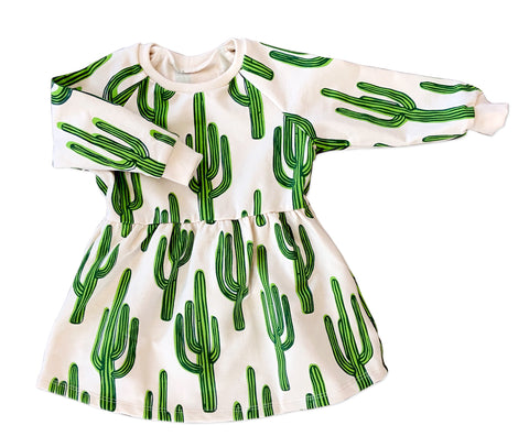 Cactus Long Sleeve Sweatshirt Dress