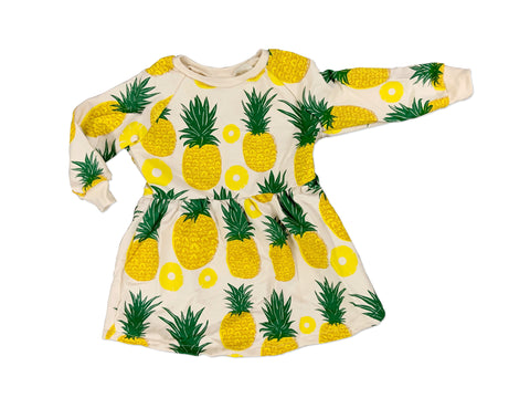 Pineapple Long Sleeve Sweatshirt Dress