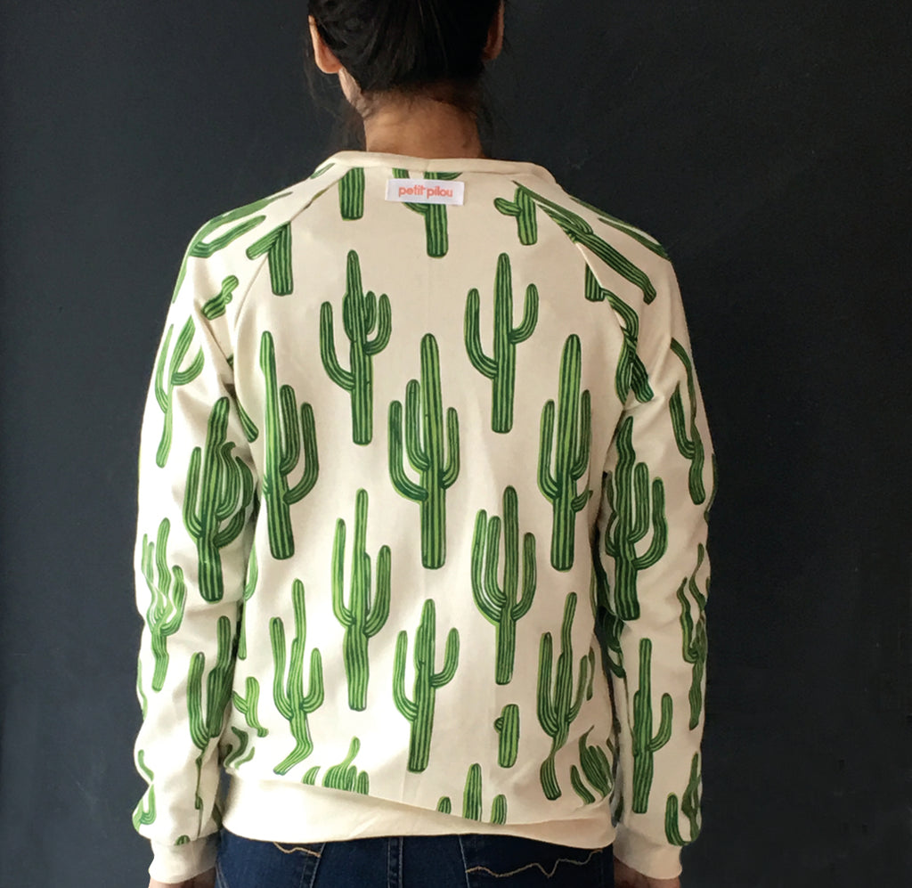 Cactus sweatshirt adult sizes