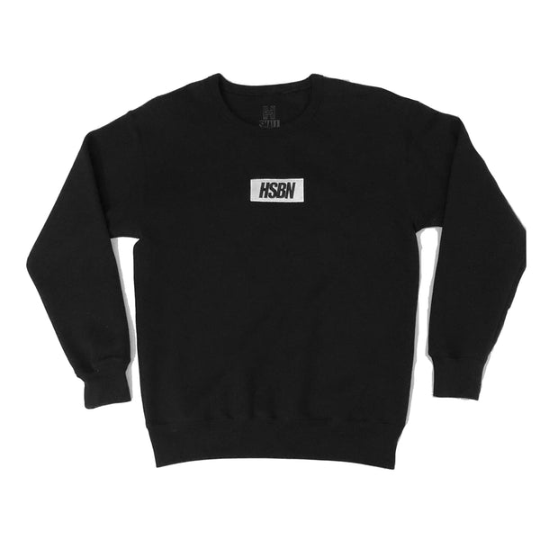 HSBN Box Logo Crewneck - Black