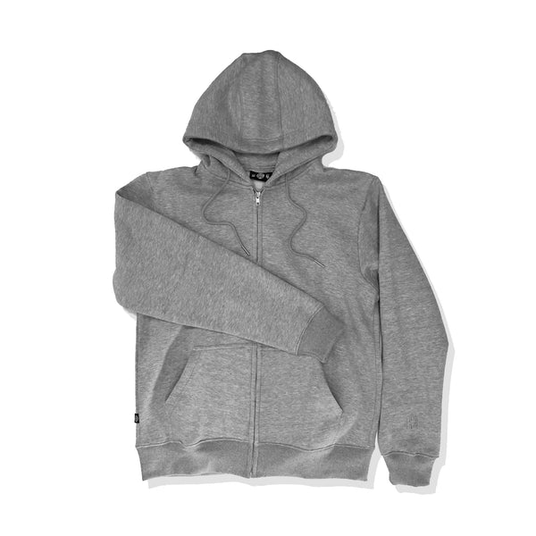 Essential Zip-Up Hoodie - Grey