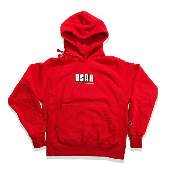 """Red Chill"" - HSBN x Champion Reverse Weave 12 oz. Hoodie"