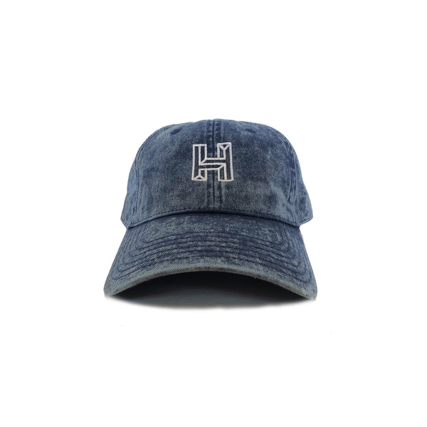 Impossible H Vintage Dad Hat - Overdyed Blue