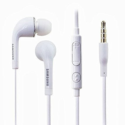 Samsung Headset With Volume Controller & Mic for Android Devices (White) - diabazaar.com