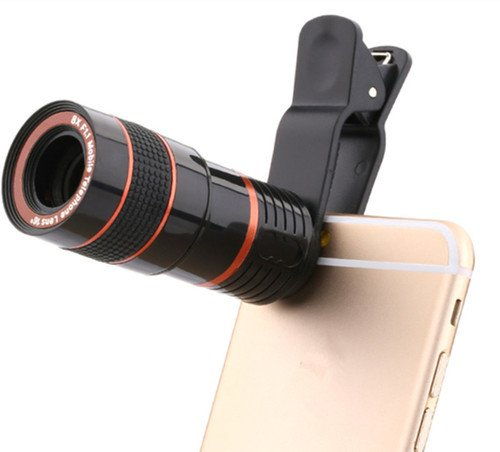 Clip-on 8X Optical Zoom Telescope Phone Camera Lens - diabazaar.com