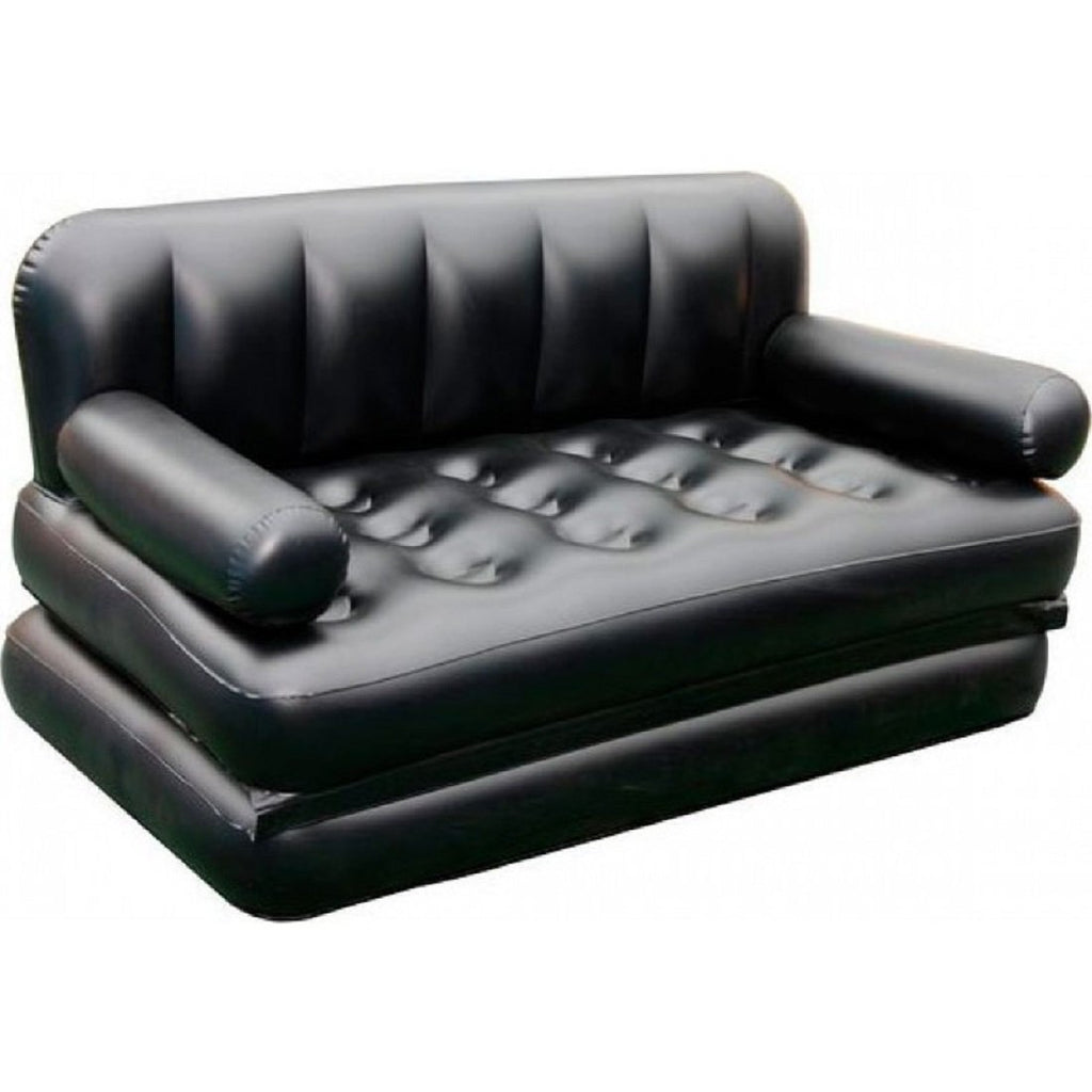 5 In 1 Inflatable Sofa Air Bed Couch With Free Electric Pump (Black) - diabazaar.com