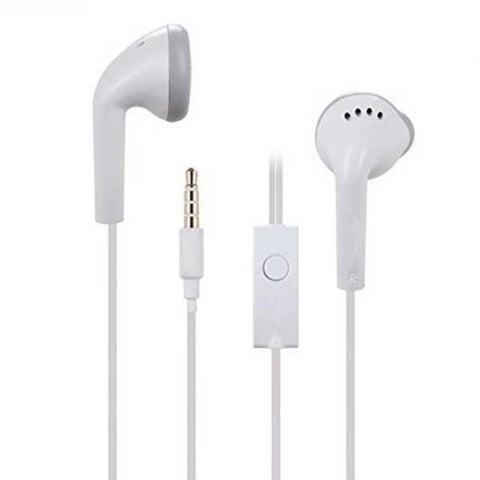 3.5 mm Jack Mp3 With Mic Earphones For Samsung Mobiles (White) - diabazaar.com
