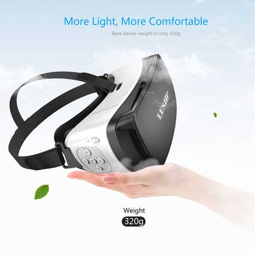 3D VR Glasses Bluetooth 3D VR Glasses Headset Virtual Reality Goggles VR Box Play Movies Photos Enjoyment for Smartphones - diabazaar.com