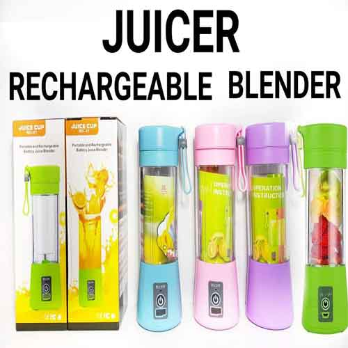 Unique Gadget Plastic Portable USB Electric Blender Juice Cup(Multicolour) - diabazaar.com