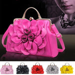 Women Beautiful Rose Flowers PU Casual Bag Handbag Shoulder Bag 13 Colors