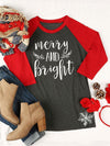 Merry and Bright Brief Drucken Rundhals Shirt