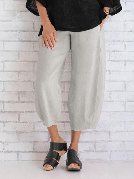 Damen Unifarben Loose Hose